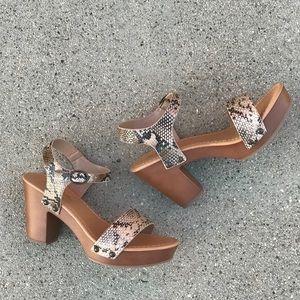 ce45851e6c0 Soda Shoes - Soda Chivas Natural Python Retro Platform Heel